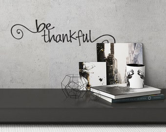 Be Thankful Decal Thanksgiving decor for fall Pumpkin Stickers Farmhouse Thanksgiving Fall Decor Vinyl Decal Stickers House Door Decal