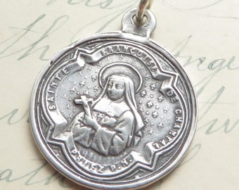 St Jane de Chantal Medal / St Francis de Sales medal- Patron of in-law problems, forgotten people & loss of parents