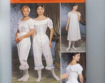 Misses Martha McCain Fashion Historian Simplicity 1139 Civil War Underwear Corset Costume Sewing Pattern Sizes 6 8 10 12 UNCUT