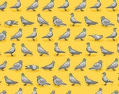 Pigeons Yellow City Life Quilting Treasures Fabric 3 yards