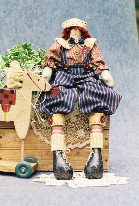 Mailed Cloth Doll Pattern - 23in Raggedy Andy