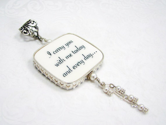 Princess Framed Bridal Bouquet Memorial Charm - Large - FBC1PRfa