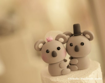 Koala   wedding cake topper----k728