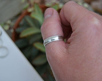 Silver Thumb Ring. Wide Sterling Silver Ring Band.