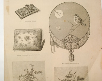 FOUND IN SPAIN - late 1800s examples of projects for the home for ladies - 'Labores de la ultimo moda'