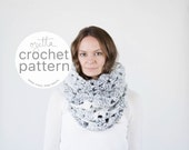Crochet Pattern / Chunky Lace Cowl, Scarf, Tube Scarf / THE SKOWHEGAN