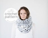 Pattern / Crochet Chunky Lace Cowl Scarf / THE SKOWHEGAN