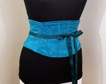 Turquoise Blue Corset Waist Cincher Belt Any Size