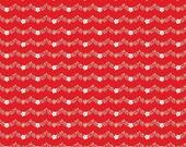 Vintage Market Riley Blake cotton fabric - Vintage Vine VM4565 Red, select a length