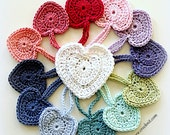 PATTERN Crochet Hearts EXTRA easy heart motif applique garland Instant PDF download