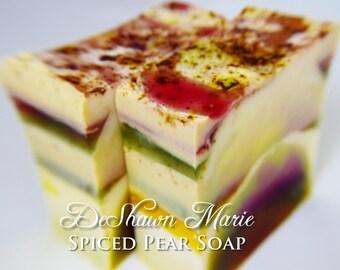 SOAP- Spiced Pear Handmade Soap, Vegan Soap, Holiday Soap, Fall Soap, Soap Gift