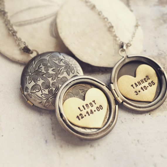 Personalized Necklace, Mothers day gift, Hand Stamped Jewelry, Personalized Jewelry, Gift for Grandma, gift for new mom