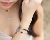 LAVA ROCK diffuser jewelry for essential oils - simple / minimalist lava bracelet