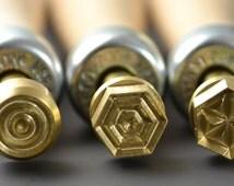 Leonardo Geometric Imprinter Brass Stamps