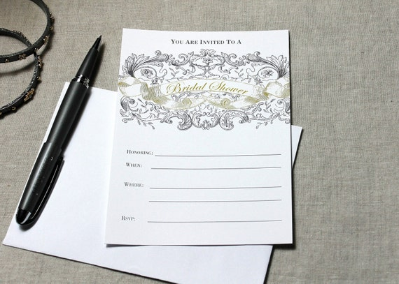 Bridal shower fill in invitation by inkadinkadoodle on etsy for Bridal shower fill in invitations