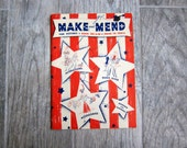 WWII Make and Mend For Victory Book No. S-10, 1942 Spool Cotton Company, Wartime Informational Book on Clothing Repair, War Collectible Book
