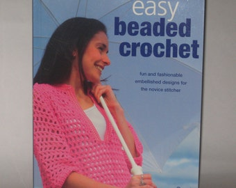 Easy Beaded Crochet Carol Meldrum 2006 Old Stock Patterns Instructions Mesh Shopping Bag Free Shipping