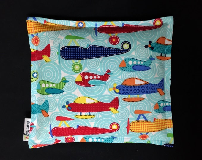 Corn Heating Pad, Corn Bag, Microwave Heating Pad, Heated Bag, Children's Corn Bag, Relaxation Gift, Get Well Gift, Ice Pack, Airplanes