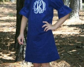 Slim 3/4 Sleeve Peasant Dress