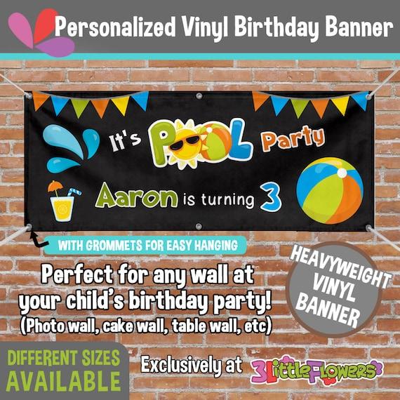 Personalized Pool Birthday Vinyl