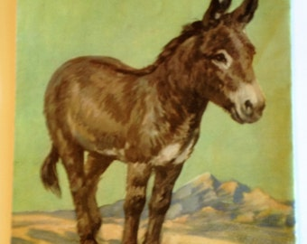 DONKEY Illustration by Diana Thorne 1930's Children's Book Print to Frame Wall Art Home Decor 10 x 12