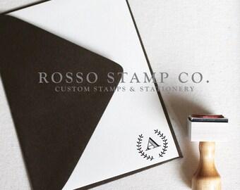 Monogram Stamp, Wedding Monogram Stamp, Custom Monogram Stamp - Style No. 6