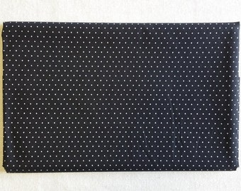 BK015 ~ Black fabric White dotted Small dots Cotton