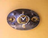 Tractor Blade Industrial Wall Clock, Junk Art, Upcycled clock, Metal Clock, Mancave Metal Clock, Home or Office Clock, Industrial Salvage