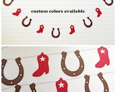 Cowboy Garland - Western Garland Cowboy Birthday Party Decor Cowboy Baby Shower Cowgirl Baby Shower Garland Western Banner Cowgirl Party