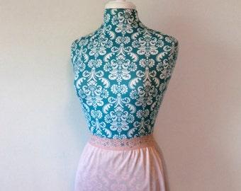 vintage pink slip //  floral lace //  1960's lingerie by Vassarette