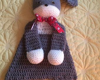Gray and Cream Rabbit/Bunny Rag Doll Toy/Lovey