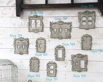 Light Switch Cover, Lighting, Light Switch Cover Plate, Distressed Brushed Nickel, Ornate Decor, French Decor, Romantic Decor