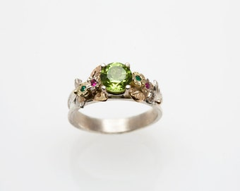 Peridot Promise Ring