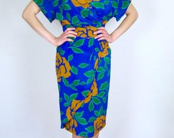 Blue Floral Avant Garde Dress