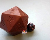 D20 Die Soap with Moving Bronze Die Inside | Leather Scented D20 soap | Tabletop Gaming Soap | Dungeons and Dragons Soap | MtG D&D