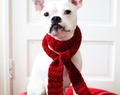 Custom Crochet Dog Scarf - For Toy and Small Dog Breeds - Holiday Dog Clothing - Christmas Dog Gift - Dog Neck Warmer