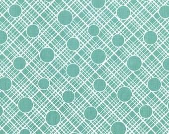 Babs Mint Fabric - Babs Mint Michael Miller Fabric - Vintage Florals Fabric - Michael Miller Retro Babs - Mint Green White Retro 1 yard