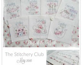 Day of the Week - set of 8 stitchery patterns