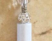 White Wedding Pen, Beaded Pen, Nurse Pen