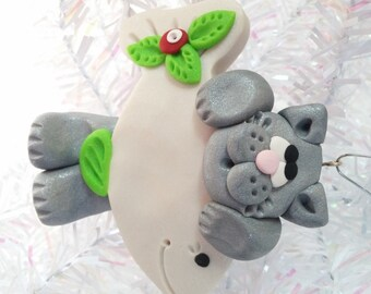 Cat Christmas Ornament - Grey Cat Ornament - Kitty Christmas Ornament -  Cat Lovers Gift - Pet Ornament - Cat Owners Gift - 4062