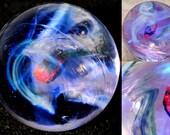 Galaxy Marble with Encased Opal - Handblown Glass