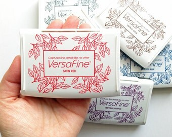 versafine ink pad. tsukineko rubber stamp ink pad. oil based archival pigment ink for uncoated paper. fine printing. scrapbooking. choose 1