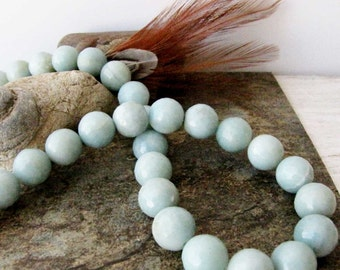 Faceted Amazonite 12 mm Strand 39 Beads Necklace Bracelet Jewelry Supply #179