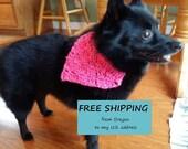 Dog bandana, Watermelon Pink, Small Pet Bandanna, Soft dog bandana, Collar Cover, Dog Clothing, Ready to Ship