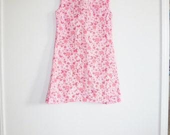 Vintage Pink Floral Girl's Dress