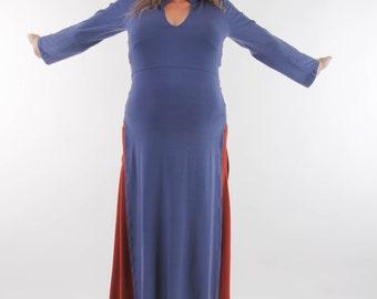 Maternity dress/ TUNIC-Maternity clothes-long sleeves maternity dress tunic- elegant maxi dress-maxi tunic-Summer womens dress