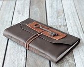 Large Leather Journal with French Skeleton Key