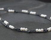 Freshwater pearl bracelet, multi strand pearl bracelet, June birthstone, dainty pearl bracelet - Zephyr