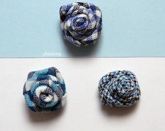 Men's flower lapel pin. Men's boutonniere. Men accessories. Rose boutonniere. Blue, turquoise. houndstooth, plaid.