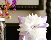Lavender ring pillow, purple ring bearer pillow, wedding ring holder, bridal accessory - Lydia